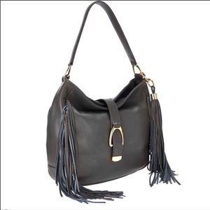 G.I.L.I. Bags - GILI Leather Boho Fringe Hobo Bag